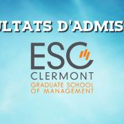 Résultats d'admissions ESC Clermont 2017