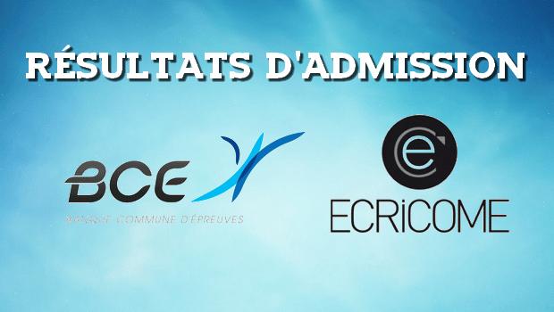 Dates et liens des résultats d'admission 2017 – BCE et Ecricome