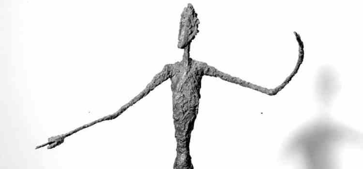 L'homme qui marche de Giacometti ; le corps et l'intention