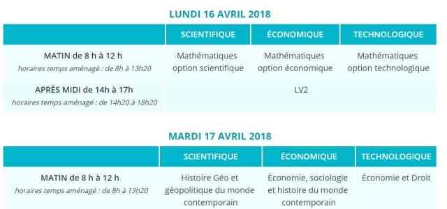 Le calendrier Ecricome 2018 est en ligne