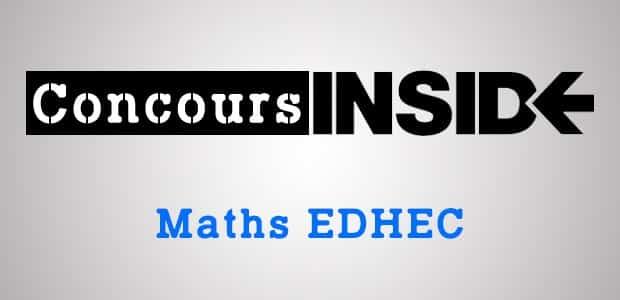 Corrigé Maths EDHEC 2001 ECE