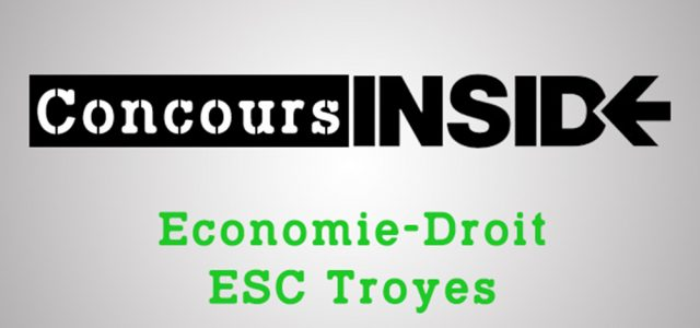 Éco-droit SCBS (ESC Troyes) 2020- Sujet