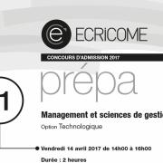 Derniers conseils pour l'éco-droit et mana-gestion d'ECRICOME 2018