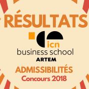 Résultats d'admissibilités ICN 2018