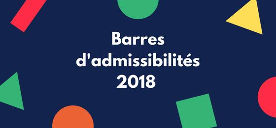 Barres d'admissibilités 2018