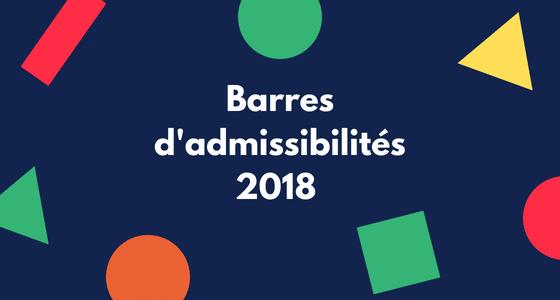 Barres d'admissibilités BCE et Ecricome 2018