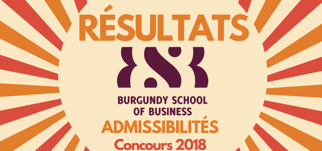 Résultats d'admissibilités BSB 2018