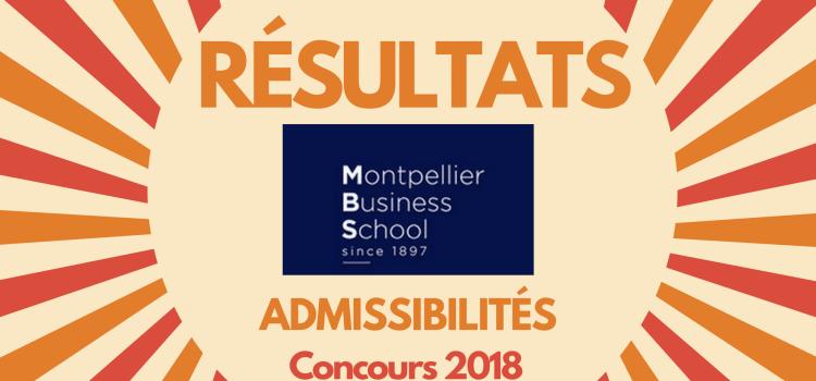 Résultats d'admissibilités Montpellier BS 2018