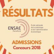 Résultats d'admissions ENSAE 2018