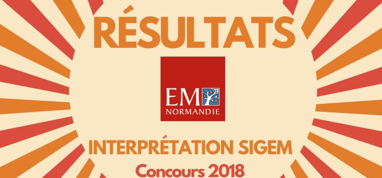 Interpréter son rang EM Normandie 2018