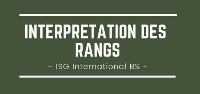 Interpréter son rang 2018 à l'ISG International Business School