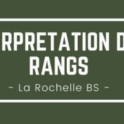 Interpréter son rang La Rochelle BS 2018