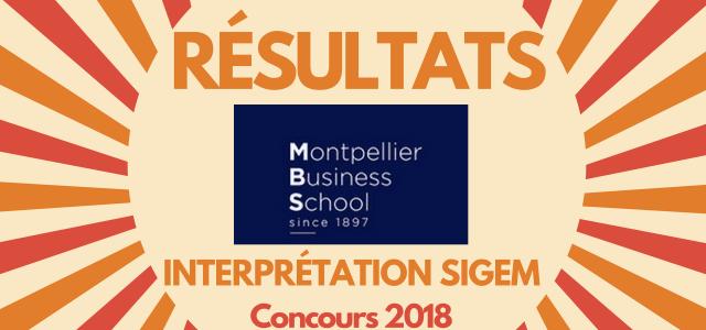 Interpréter son rang Montpellier BS 2018