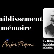 Ribot, Affaiblissement de la mémoire