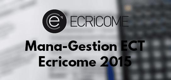 Management Gestion Ecricome 2015 – Sujet