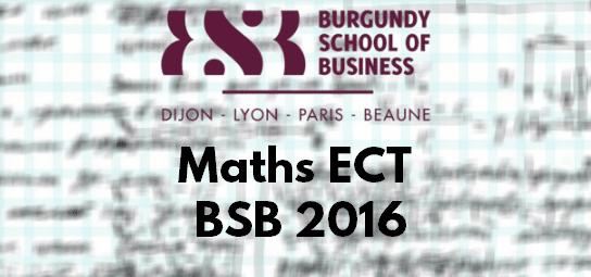 Sujet Maths ECT ESC 2016