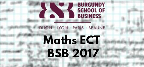 Sujet Maths ECT ESC 2017