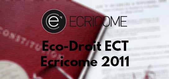 Eco Droit Ecricome 2011 – Sujet