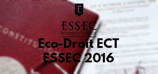 Eco Droit Ecricome 2016 – Sujet