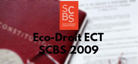 Eco Droit ESC 2009 – Rapport de Jury