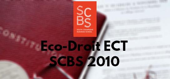 Eco Droit ESC 2010 – Sujet