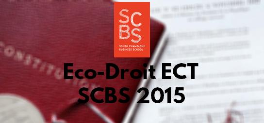 Eco Droit ESC 2015 – Sujet