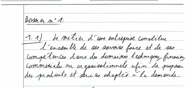 Analyse d'une copie de Management notée 19/20