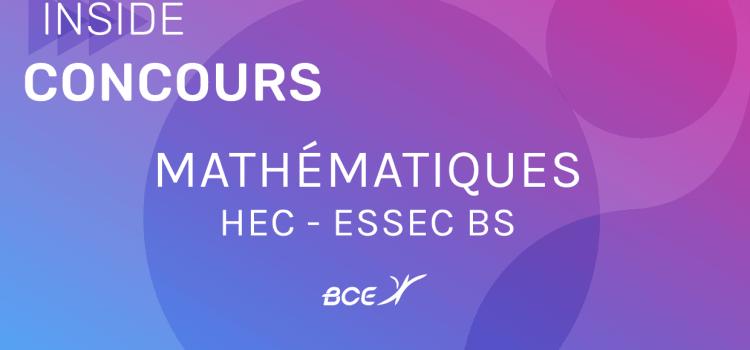 Maths HEC ESSEC 2019 ECE – Sujet