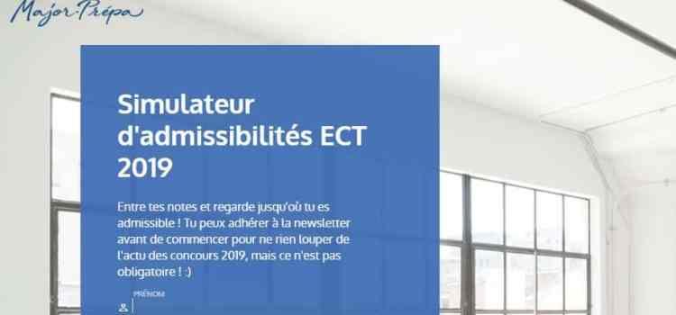 Simulateur d'admissibilités 2019 – ECT