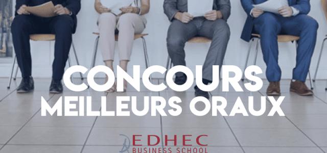 Concours des meilleurs oraux 2019 – EDHEC BS