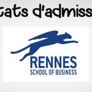 Résultats d'admissibilités Rennes SB 2019