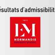 Résultats d'admissibilités EM Normandie 2019