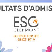 Résultats d'admission ESC Clermont 2020