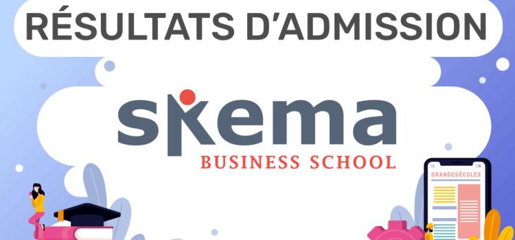 Résultats d'admission SKEMA 2019