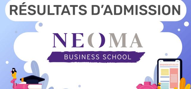 Résultats d'admission NEOMA 2020