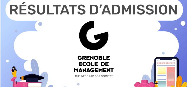 Résultats d'admission Grenoble EM 2019