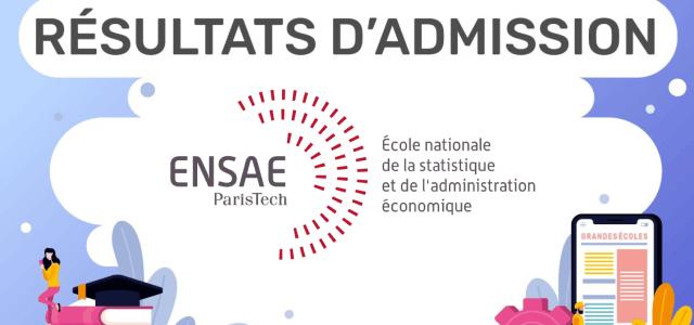 Résultats d'admission ENSAE 2019