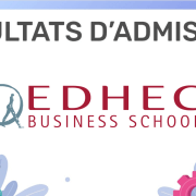Résultats d'admission EDHEC 2019