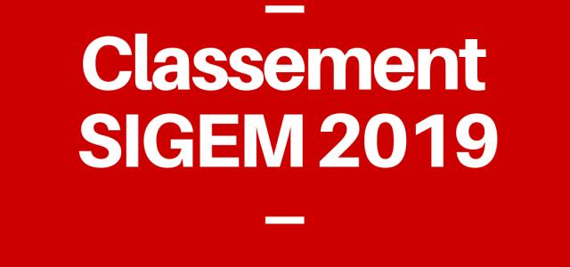 Le classement SIGEM 2019 : analyse complète