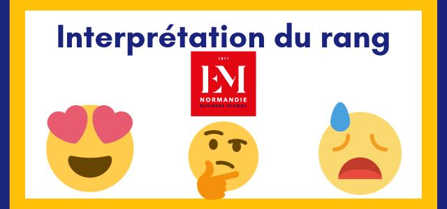 Interpréter son rang EM Normandie 2021