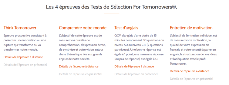 For Tomorrowers Test
