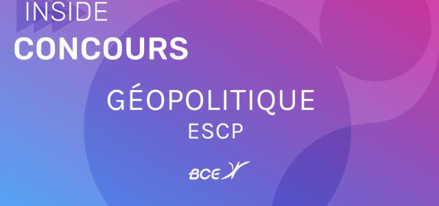 Géopo ESCP 2020 – Sujet