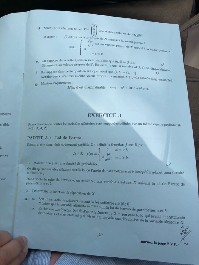 Maths ECE EMLYON 4