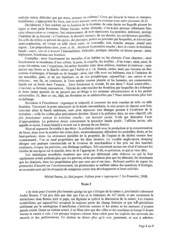 sujet synthèse ESCP 2020 2