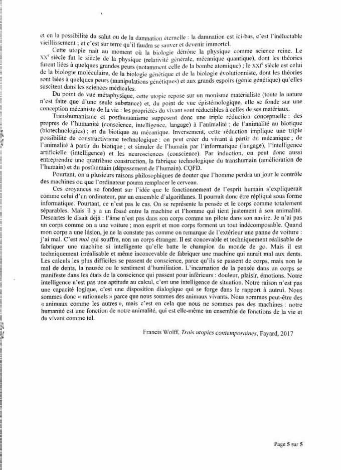 sujet synthèse ESCP 2020 5