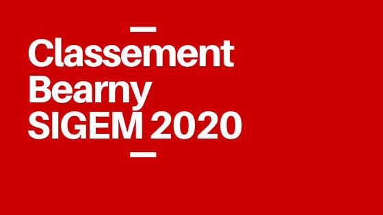 SIGEM 2020 : le classement Bearny de recoupement SIGEM
