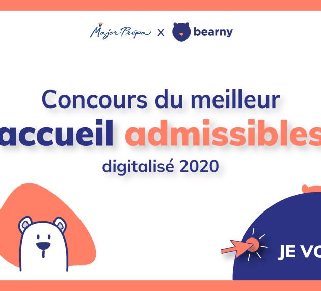Vote pour le meilleur accueil «admissibles» digitalisé 2020