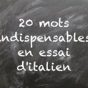 20 mots indispensables en essai d'italien