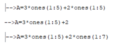 Quelle est la meilleure façon d'obtenir la matrice A=(5,5,5,5,5) ?