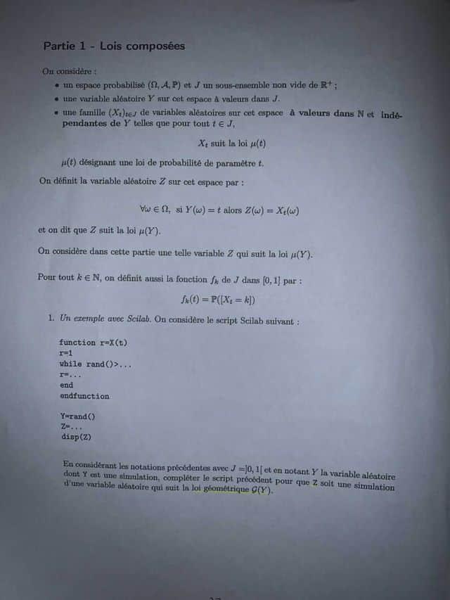 Sujet Maths HEC ECE 2021